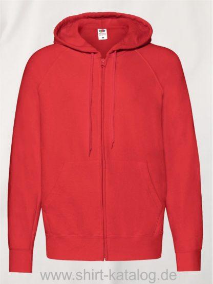 Lightweight-Hooded-Sweat-Jacket-Red