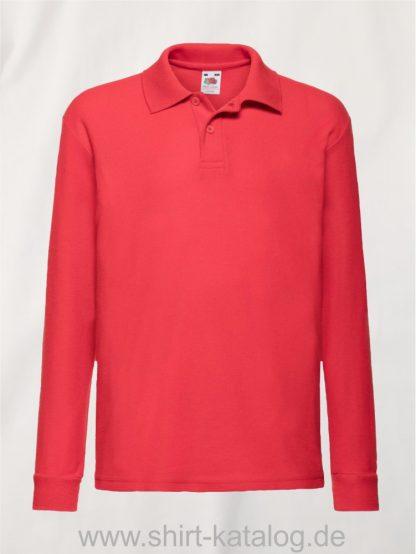 Long-Sleeve -6535-Polo-Kids-Red