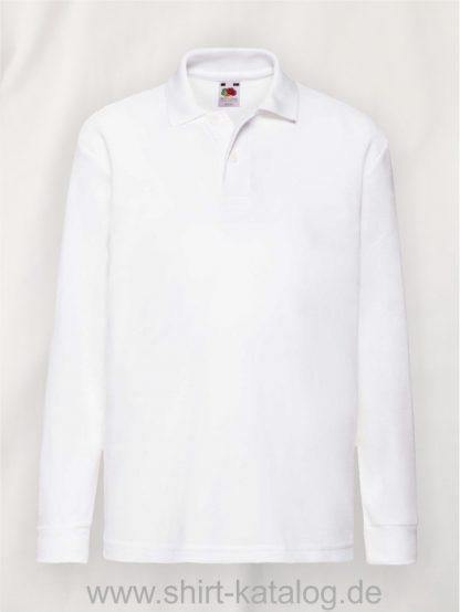 Long-Sleeve -6535-Polo-Kids-White