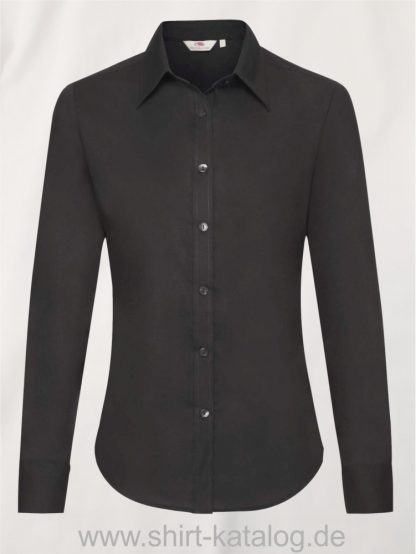 Long-Sleeve-Oxford-Shirt-Lady-Fit-Black