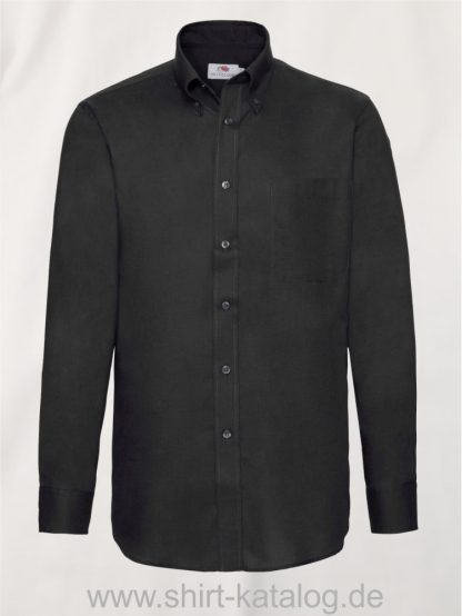 Men´s-Long-Sleeve-Oxford-Shirt-Black
