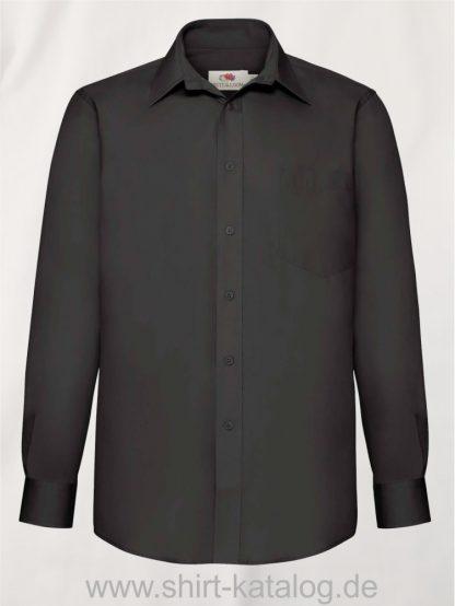 Men´s-Long -Sleeve-Poplin-Shirt-Black