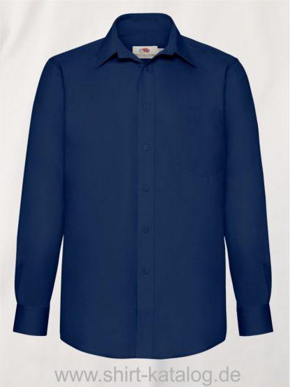 Men´s-Long -Sleeve-Poplin-Shirt-Navy
