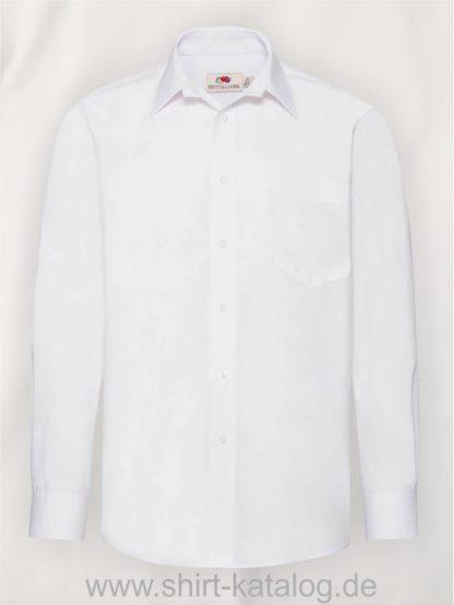 Men´s-Long -Sleeve-Poplin-Shirt-White