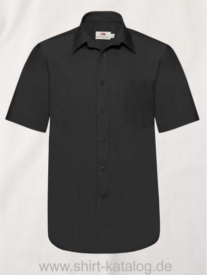 Men´s-Short-Sleeve-Poplin-Shirt-Black