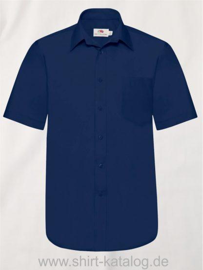 Men´s-Short-Sleeve-Poplin-Shirt-Navy