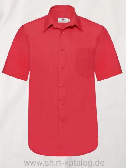 Men´s-Short-Sleeve-Poplin-Shirt-Red