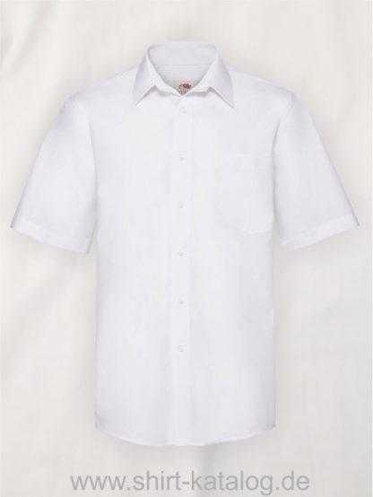 Men´s-Short-Sleeve-Poplin-Shirt-White