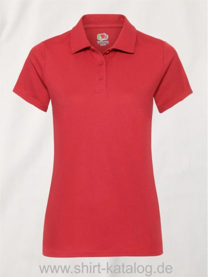 Performance-Polo-Lady-Fit-Red