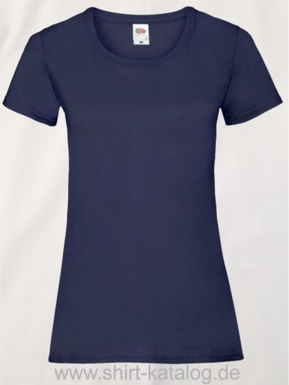16142-Fruit-Of-The-Loom-Valueweight-V-Neck-T-Lady-Fit-Deep-Navy