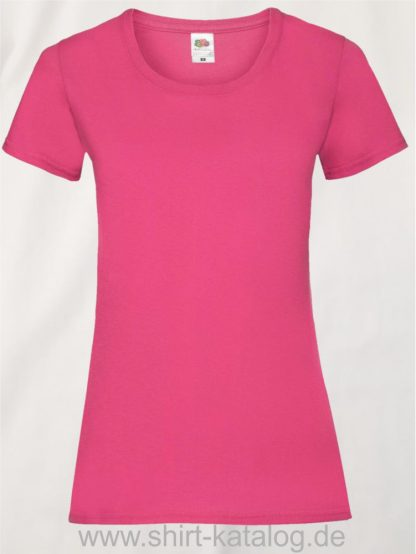 16142-Fruit-Of-The-Loom-Valueweight-V-Neck-T-Lady-Fit-Fuchsia