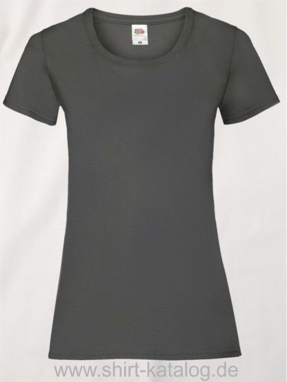 16142-Fruit-Of-The-Loom-Valueweight-V-Neck-T-Lady-Fit-Light-Graphite
