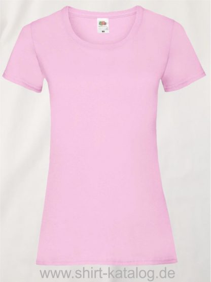 16142-Fruit-Of-The-Loom-Valueweight-V-Neck-T-Lady-Fit-Light-Pink