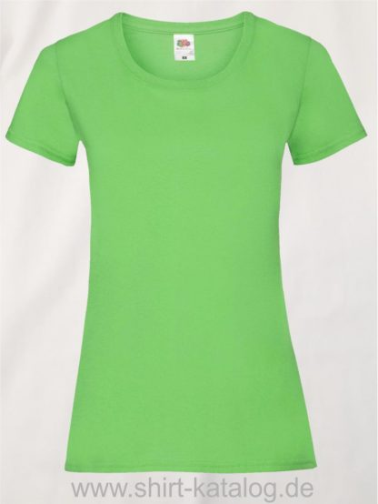 16142-Fruit-Of-The-Loom-Valueweight-V-Neck-T-Lady-Fit-Lime