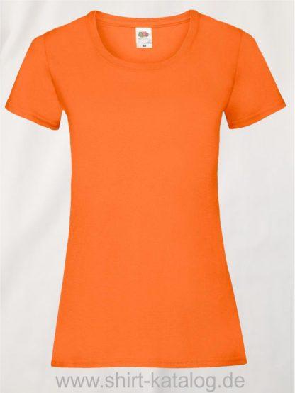 16142-Fruit-Of-The-Loom-Valueweight-V-Neck-T-Lady-Fit-Orange