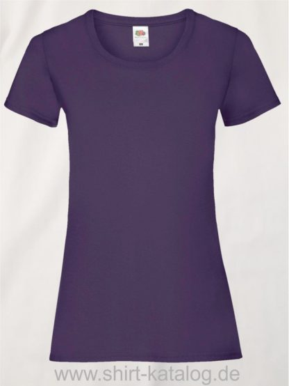 16142-Fruit-Of-The-Loom-Valueweight-V-Neck-T-Lady-Fit-Purple