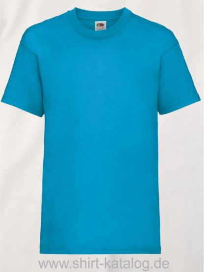 23191-Fruit-Of-The-Loom-Kids-Valueweight-T-F140K-Azure-Blue