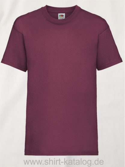 23191-Fruit-Of-The-Loom-Kids-Valueweight-T-F140K-Burgundy