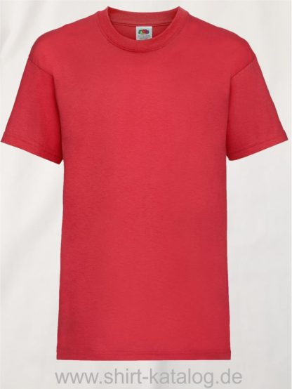 23191-Fruit-Of-The-Loom-Kids-Valueweight-T-F140K-Red