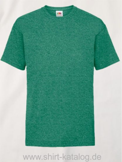 23191-Fruit-Of-The-Loom-Kids-Valueweight-T-F140K-Retro-Heather-Green