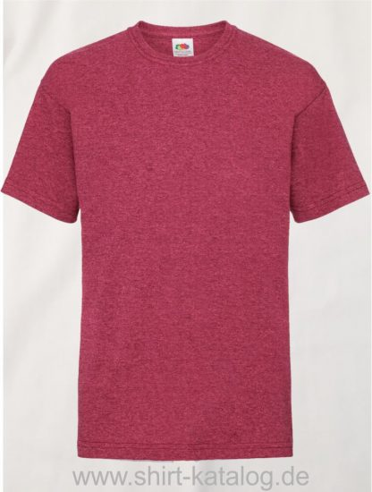 23191-Fruit-Of-The-Loom-Kids-Valueweight-T-F140K-Vintage-Heather-Red