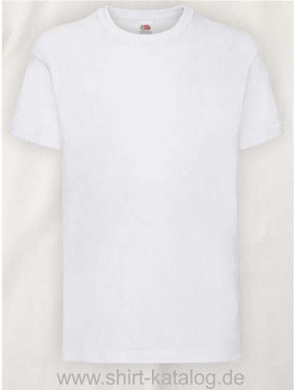 23191-Fruit-Of-The-Loom-Kids-Valueweight-T-F140K-White