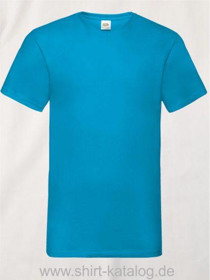 23265-Fruit-Of-The-Loom-Valueweight-V-Neck-T-Azure-Blue