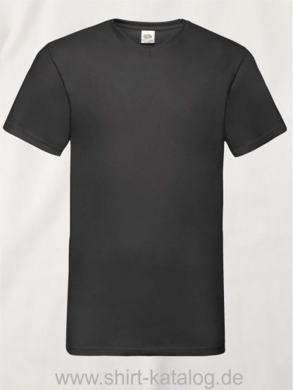 23265-Fruit-Of-The-Loom-Valueweight-V-Neck-T-Black