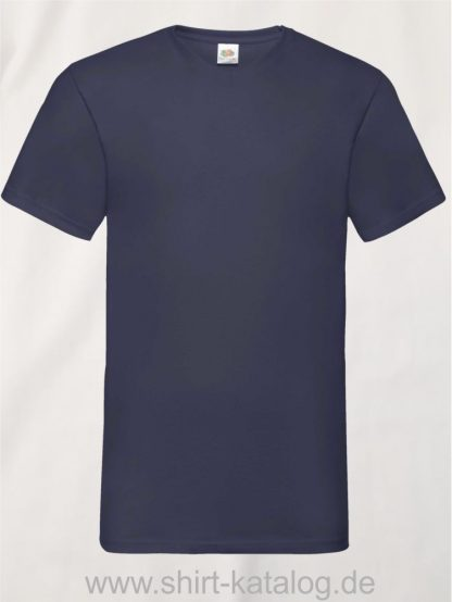 23265-Fruit-Of-The-Loom-Valueweight-V-Neck-T-Deep-Navy