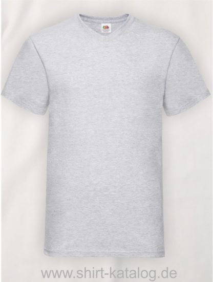 23265-Fruit-Of-The-Loom-Valueweight-V-Neck-T-Heather-Grey