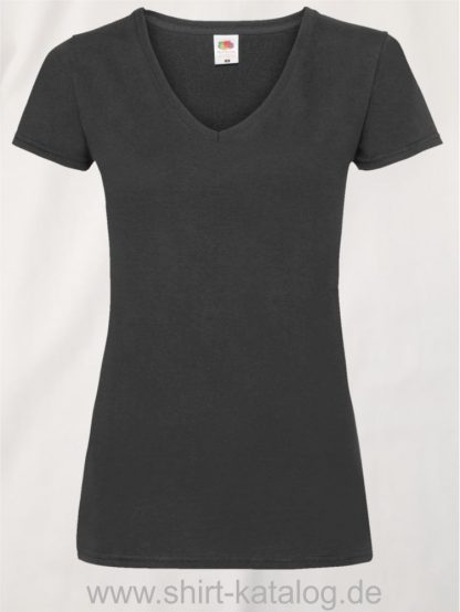 23265-Fruit-Of-The-Loom-Valueweight-V-Neck-T-Lady-Fit-Black
