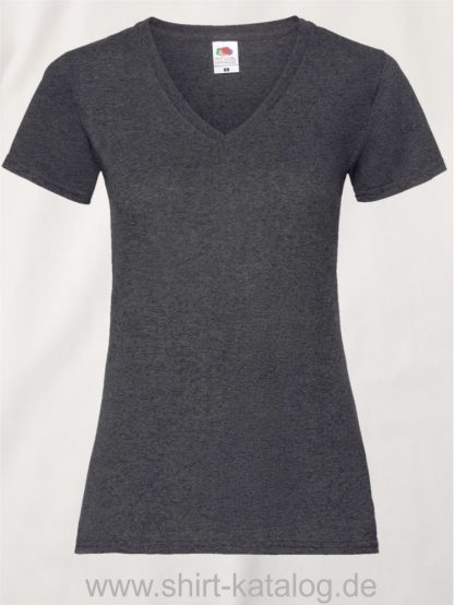 23265-Fruit-Of-The-Loom-Valueweight-V-Neck-T-Lady-Fit-Dark-Heather-Grey