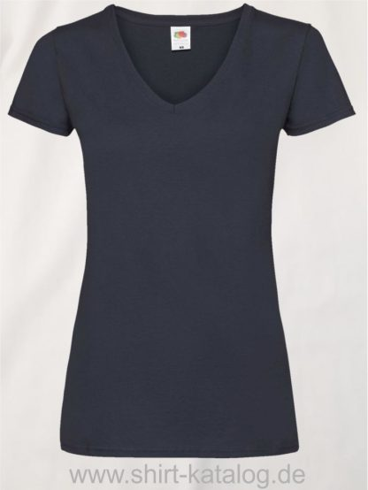 23265-Fruit-Of-The-Loom-Valueweight-V-Neck-T-Lady-Fit-Deep-Navy