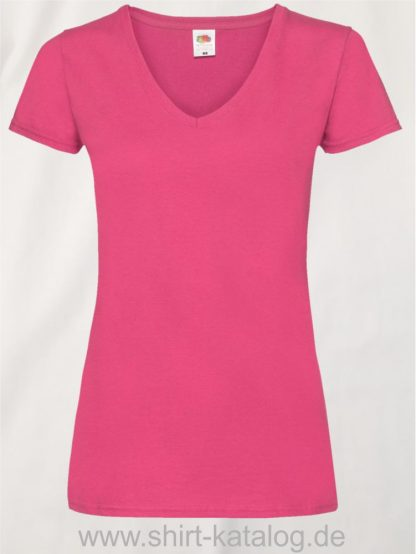 23265-Fruit-Of-The-Loom-Valueweight-V-Neck-T-Lady-Fit-Fuchsia