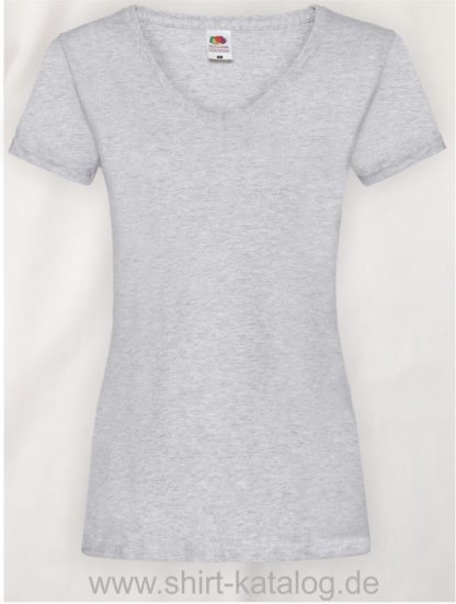 23265-Fruit-Of-The-Loom-Valueweight-V-Neck-T-Lady-Fit-Heather-Grey