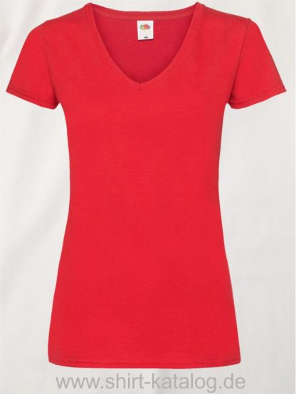 23265-Fruit-Of-The-Loom-Valueweight-V-Neck-T-Lady-Fit-Red