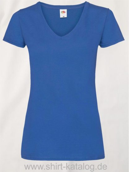 23265-Fruit-Of-The-Loom-Valueweight-V-Neck-T-Lady-Fit-Royal