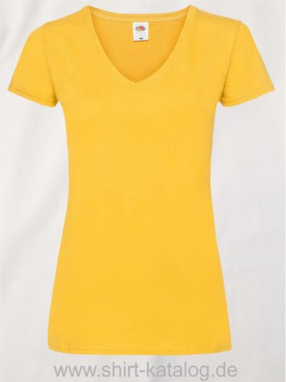 23265-Fruit-Of-The-Loom-Valueweight-V-Neck-T-Lady-Fit-Sunflower