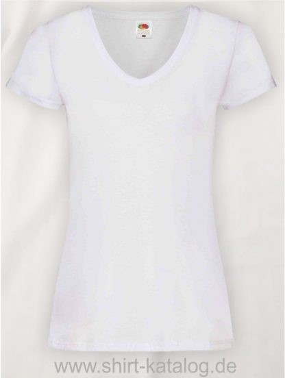 23265-Fruit-Of-The-Loom-Valueweight-V-Neck-T-Lady-Fit-White