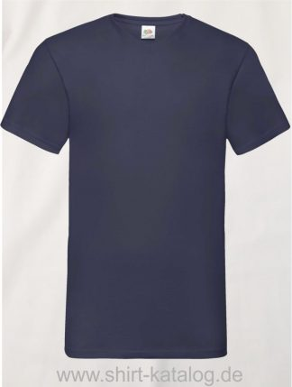 23265-Fruit-Of-The-Loom-Valueweight-V-Neck-T-Navy