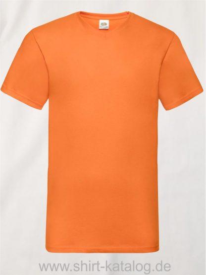 23265-Fruit-Of-The-Loom-Valueweight-V-Neck-T-Orange