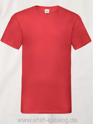 23265-Fruit-Of-The-Loom-Valueweight-V-Neck-T-Red