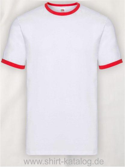 23271-Fruit-Of-The-Loom-Kids-Ringer-T-White-Red
