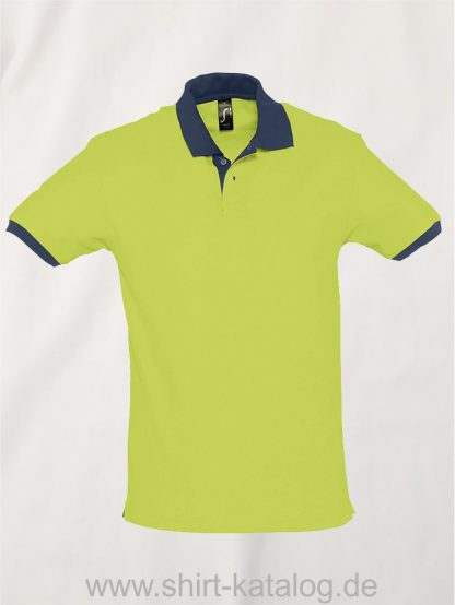 23315-Sols-Polo-Prince-apple-green-french-navy