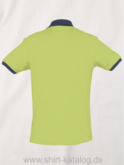 23315-Sols-Polo-Prince-apple-green-french-navy-back-view