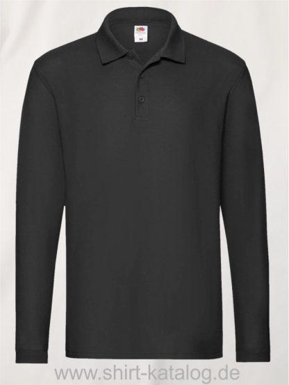 23337-Fruit-of-the-Loom-Super-Premium-Long-Sleeve-Polo-Black