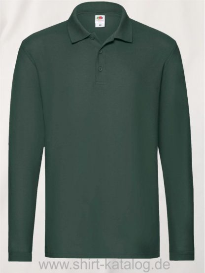 23337-Fruit-of-the-Loom-Super-Premium-Long-Sleeve-Polo-Forest-Green