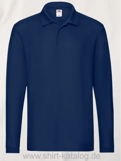 23337-Fruit-of-the-Loom-Super-Premium-Long-Sleeve-Polo-Navy