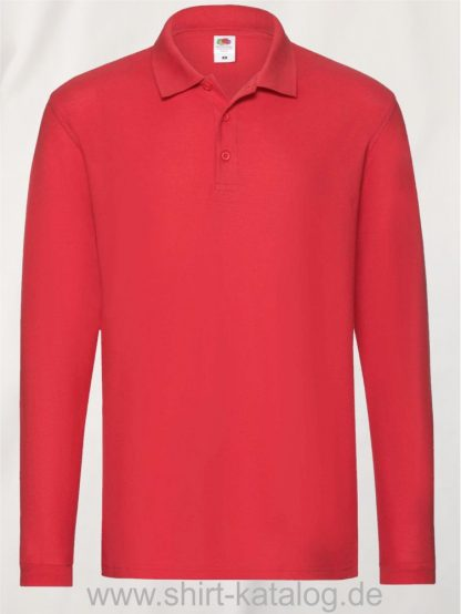 23337-Fruit-of-the-Loom-Super-Premium-Long-Sleeve-Polo-Red
