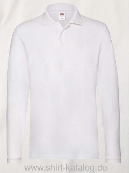 23337-Fruit-of-the-Loom-Super-Premium-Long-Sleeve-Polo-White